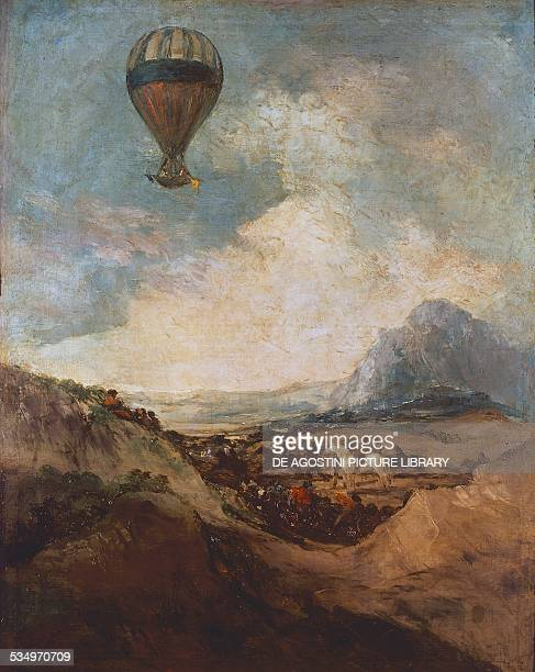 The Balloon or the Rising of the Montgolfiere by Francisco de Goya oil on canvas 103x83 cm Spain18th19th century Agen Musée Des BeauxArts