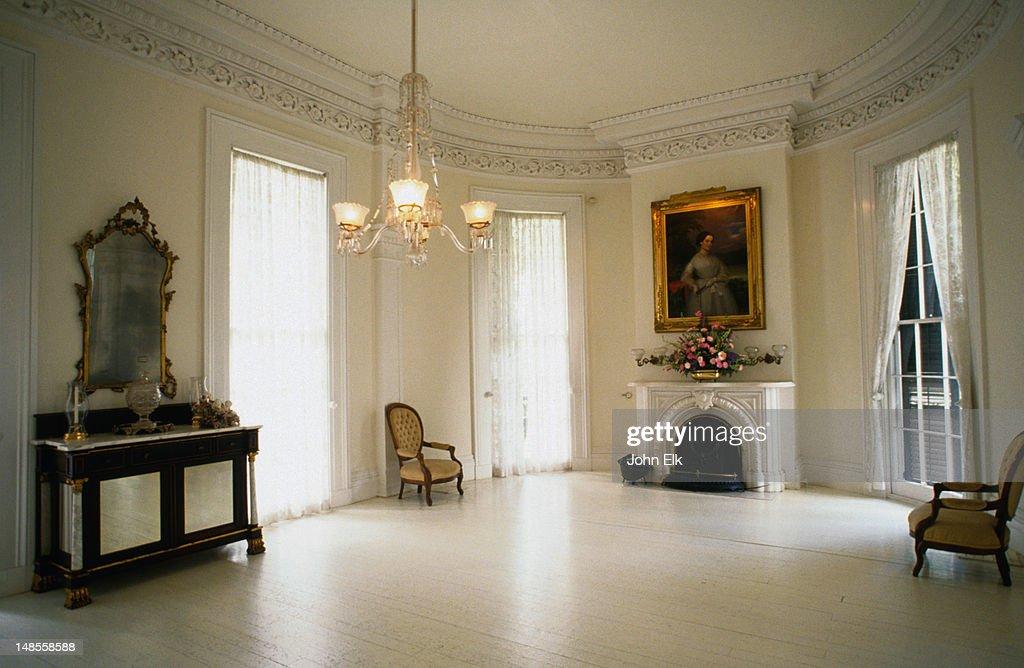 The Ballroom At Nottaway Plantation, White Castle : Stock Photo
