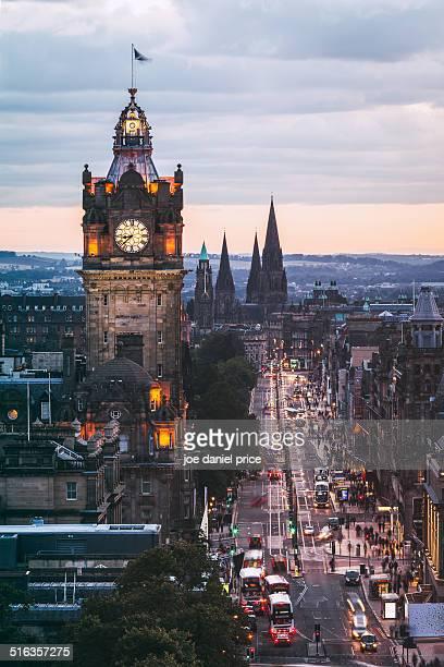 the balmoral clocktower, edinburgh, scotland - clock tower stock pictures, royalty-free photos & images