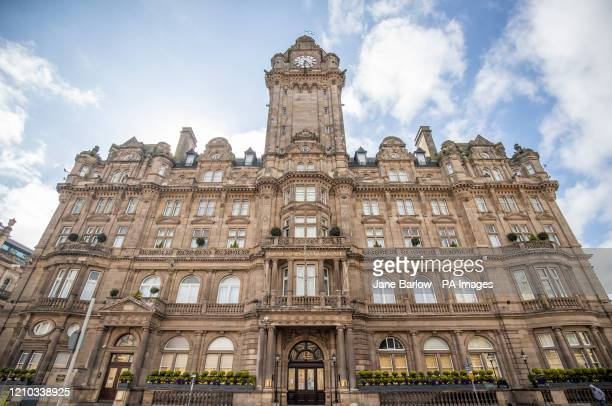 The Balmoral Hotel in Princes Street, Edinburgh, has been boarded up in a bid to stop vandals and thieves while it lies empty as the UK continues in...