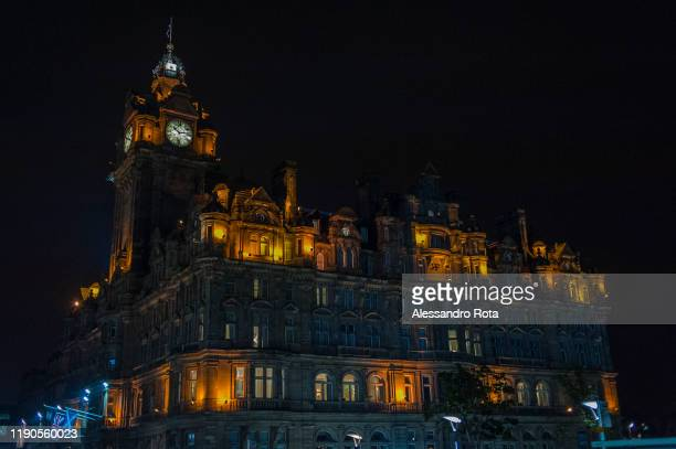 The Balmoral Hotel of Edinburgh is seen in a rainy evening on September 19, 2014.