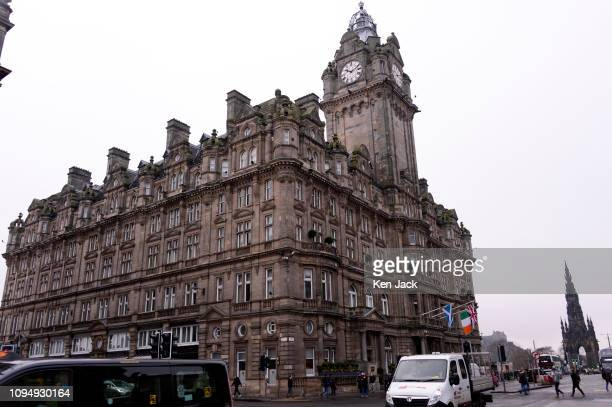 The Balmoral hotel on Princes Street as the City of Edinburgh Council votes to introduce a tourist tax or Transient Visitor Levy on February 7 2019...