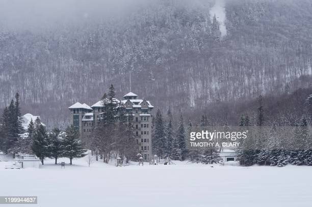 The Balsams Resort is seen in the New Hampshire hamlet of Dixville Notch on February 10 where midnight voting will take place to tally the first...