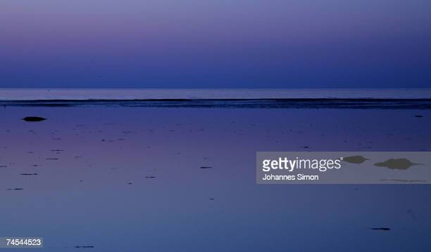 The Baltic Sea is seen after sunset on June 11 at the island of Poel near Wismar Germany Meteorologists predict hot and sunny weather with...