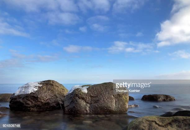 The Baltic Sea near Cape Arkona on the island of Ruegen on February 08 2018 in Glowe Germany