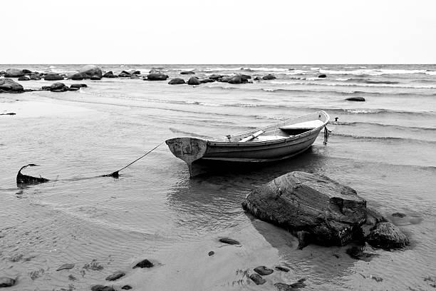 The Baltic Sea stony beach in Kaltene