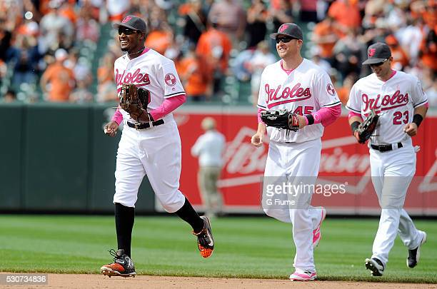 28058fc62 The Baltimore Orioles celebrate after a 113 victory against the Oakland  Athletics at Oriole Park at
