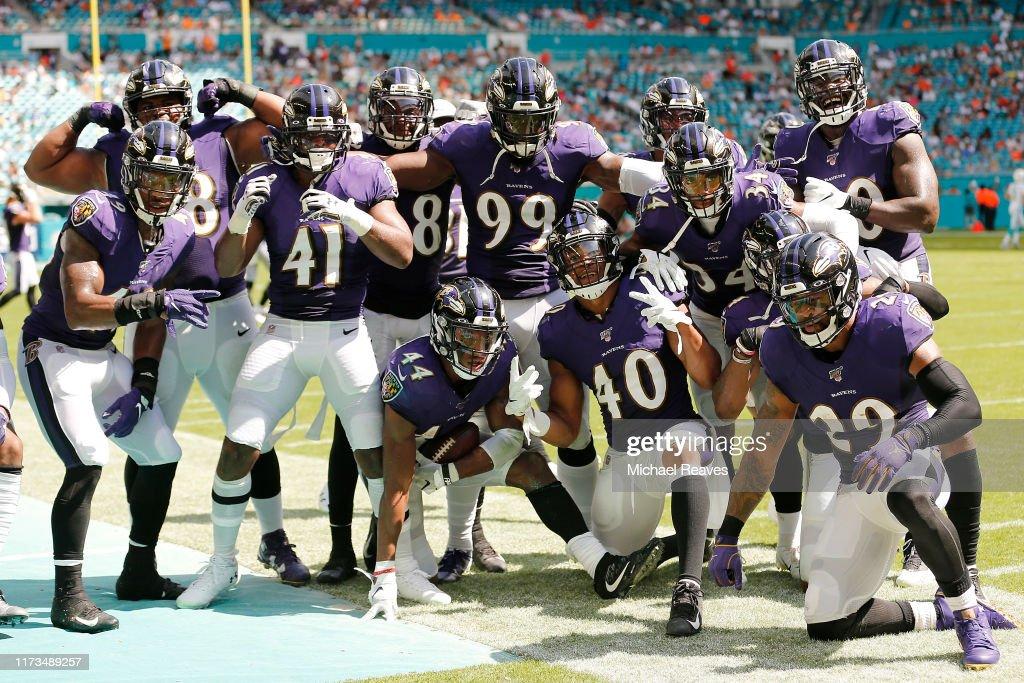 Baltimore Ravens vMiami Dolphins : ニュース写真