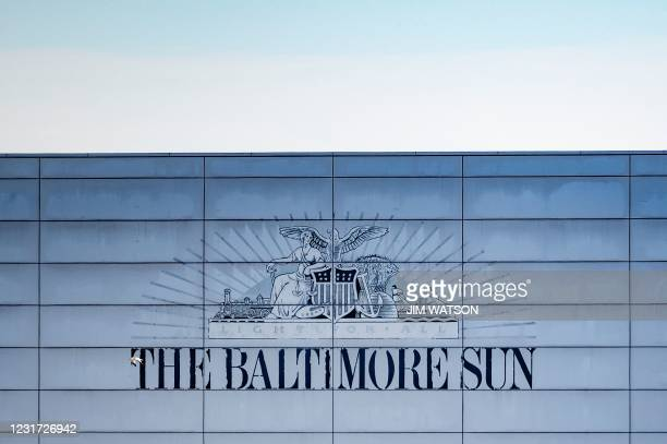 The Baltimore Sun building is seen in Baltimore, Maryland on March 11, 2021. - After years of staff cuts, shrinking budgets and declining readership,...