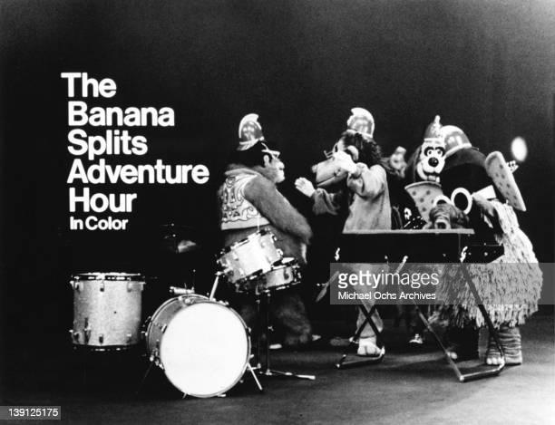 The Banana Splits pose for a publicity photo circa 1969.