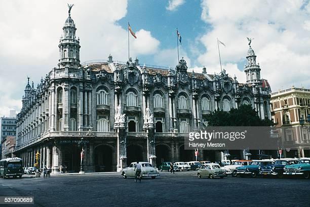 The Banco Financiero in the Centro Gallego del la Habana, also home to the Gran Teatro de la Habana, on the Paseo del Prado or Paseo de Marti in...