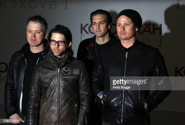 The band Angels & Airwaves arrive for the ''Kokowaeaeh' - Germany Premiere at the CineStar movie theater on January 25, 2011 in Berlin, Germany.