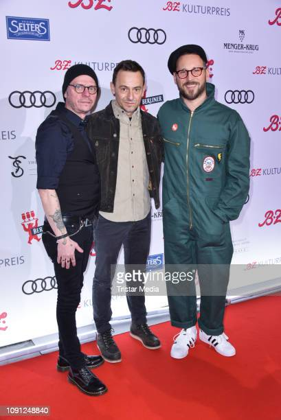 The band Beatsteaks during the B.Z. Kulturpreis 2019 at Volksbuehne on January 29, 2019 in Berlin, Germany.