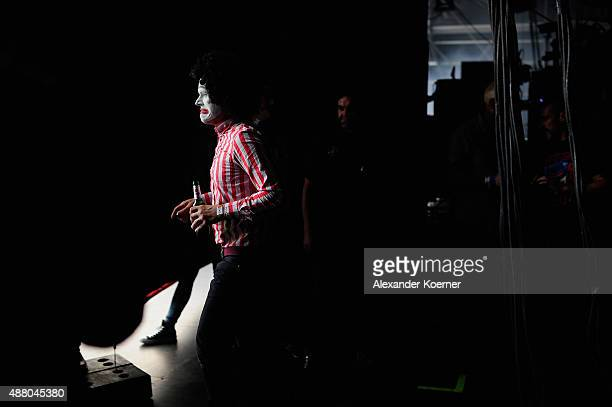 The band Beatsteaks prepares to go on stage during the second day of the Lollapalooza Berlin music festival at Tempelhof Airport on September 13,...