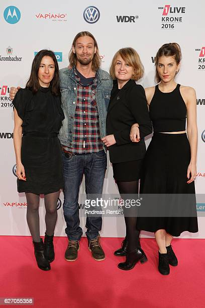 The band Boy attend the 1Live Krone at Jahrhunderthalle on December 1 2016 in Bochum Germany