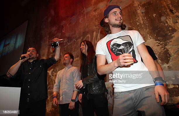 The band Callejon accepts the prize for Metal Anthem during the fifth Metal Hammer Awards at Kesselhaus on September 13 2013 in Berlin Germany The...