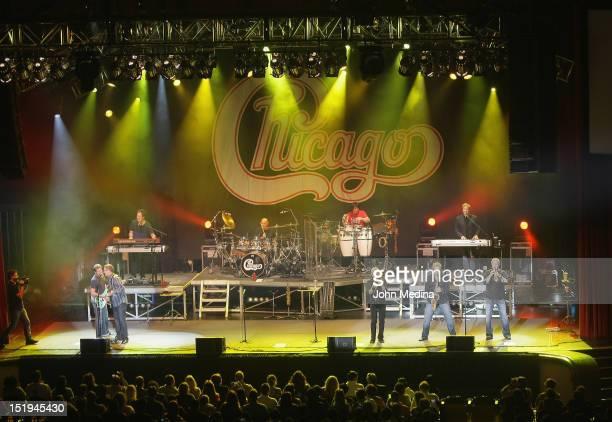 The band Chicago performs at San Jose Civic Auditorium on September 12 2012 in San Jose California