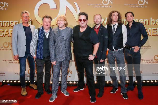 The band 'Die Prinzen' during the tv show 'Willkommen bei Carmen Nebel' at TUI Arena on September 30 2017 in Hanover Germany