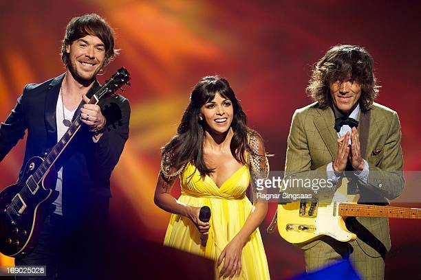 The band ESDM of Spain perform on stage during the grand final of the Eurovision Song Contest 2013 at Malmo Arena on May 18 2013 in Malmo Sweden