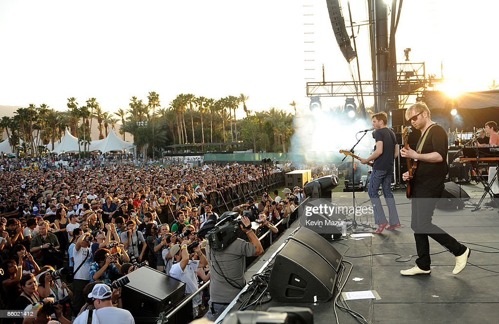 The band Franz Ferdinand performs during day 1 of the Coachella Valley Music & Arts Festival 2009 at the the Empire Polo Club on April 17, 2009 in Indio, California.