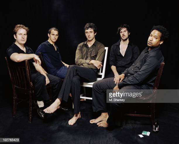 The band French Kicks pose for a portrait shoot in 2005 in New York City