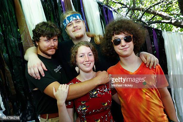 The band Honeysuckle is seen in the media area on day three of Lollapalooza on July 30 2016 in Chicago Illinois