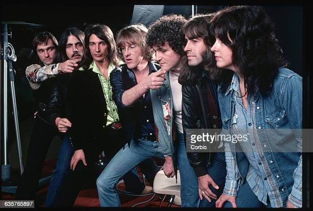 The band Jefferson Starship during the recording of their Earth album