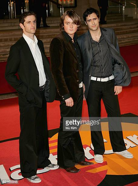 The band Keane arrive at the 25th Anniversary BRIT Awards 2005 at Earl's Court February 9 2005 in London