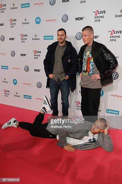The band KIZ attend the 1Live Krone at Jahrhunderthalle on December 1 2016 in Bochum Germany