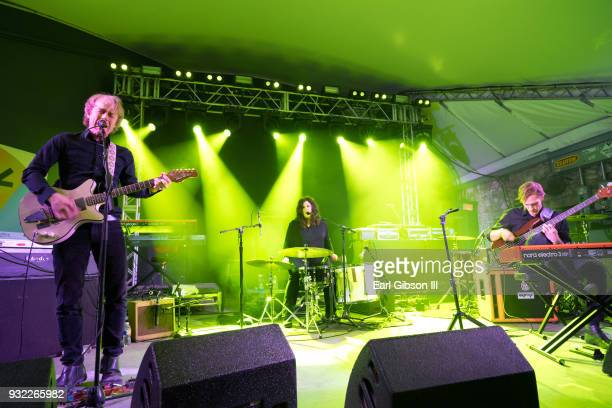 The Band Low Alan Sparhawk Mimi Parker and Steve Garrington perform at Stubbs on March 14 2018 in Austin Texas