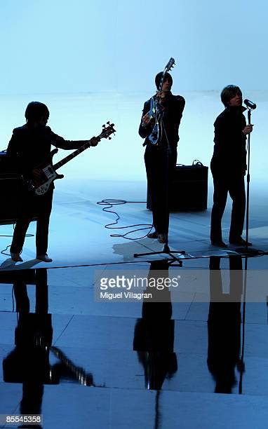 The band 'Mando Diao' perform during the 'Wetten dass' show at the Olympiahalle on March 21 2009 in Munich Germany