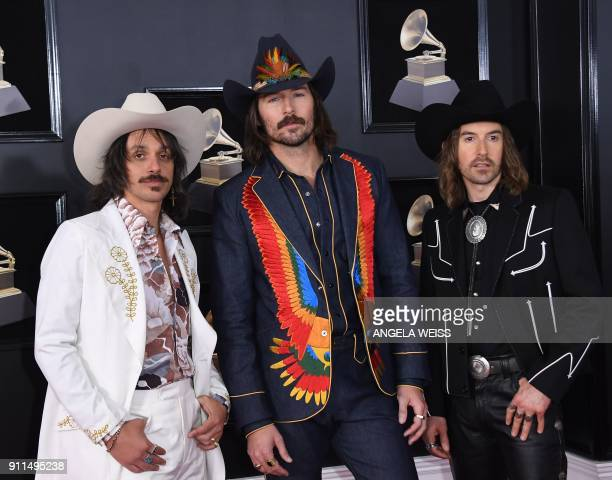 The band Midland arrives for the 60th Grammy Awards on January 28 in New York / AFP PHOTO / ANGELA WEISS