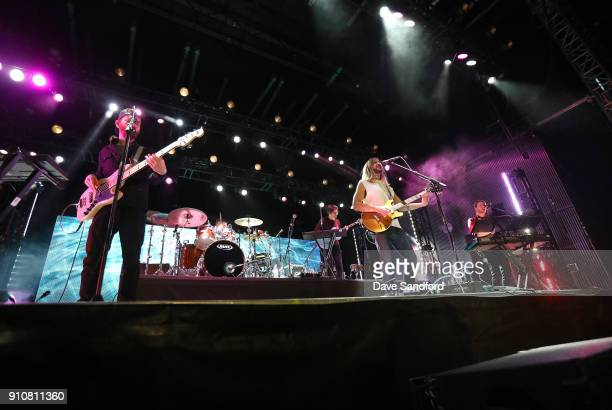 The band Moon Taxi performs onstage during the Enterprise NHL AllStar Friday Night at Curtis Hixon Park on January 26 2018 in Tampa Florida
