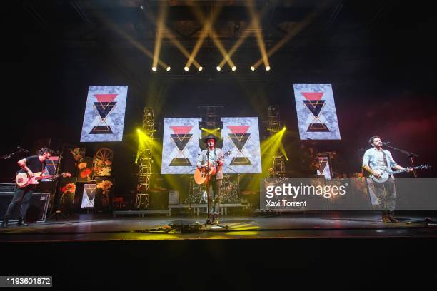 The band Morat performs in concert at Sant Jordi Club on December 12 2019 in Barcelona Spain