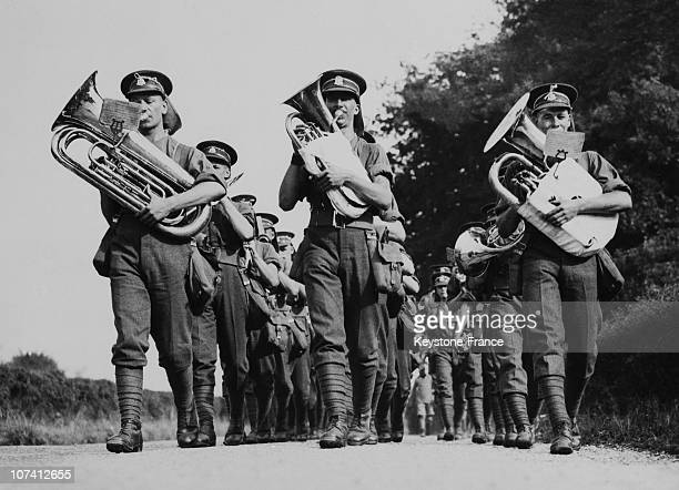 The Band Of Staffordshire Regiment In Salisbury On August 31St 1953