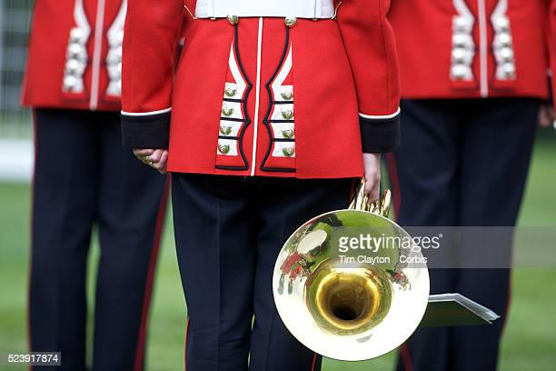 'The band of the Irish Guards perform during the race meeting at Royal Ascot Race Course Royal Ascot is one of the most famous race meetings in the...