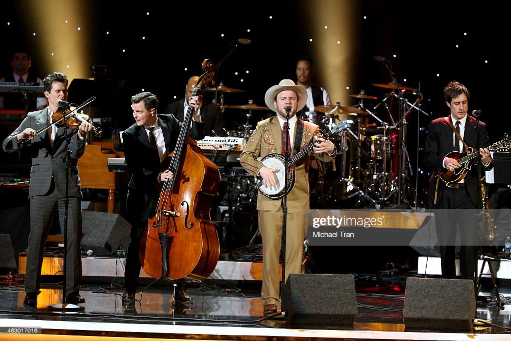 The band Old Crow Medicine Show performs onstage during The 57th Annual GRAMMY Awards premiere ceremony at STAPLES Center on February 8, 2015 in Los Angeles, California.