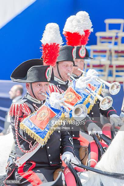 IMPERIALI ROME ROMA ITALY The band parade in front of the officials during the Festa della Repubblica or the Italian National Day which is celebrated...