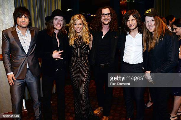 The Band Perry and The Cadillac 3 attend Big Machine Label Group Celebration After The 2014 ACM Awards In Las Vegas on April 6 2014 in Las Vegas...