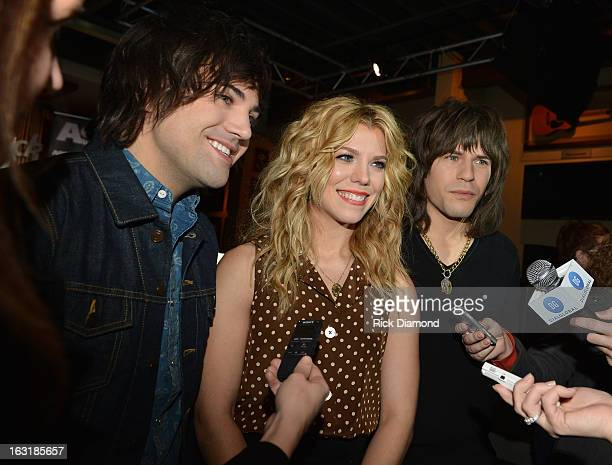 The Band Perry Neil Perry Kimberly Perry and Reid Perry attend the Band Perry ASCAP Party for Better Dig Two at Hard Rock Cafe Nashville on March 5...