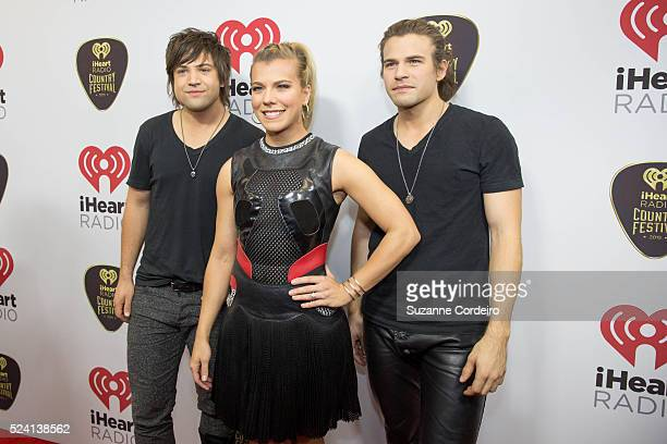 The Band Perry on the iHeart Radio Country Festival red carpet on May 2 2015 in Austin Texas