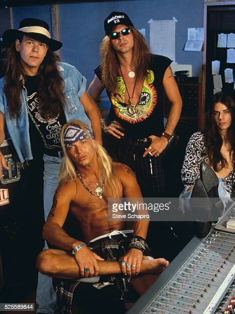 The band Poison Bobby Dall Brett Michaels Rikki Rockett and Richie Kotzen