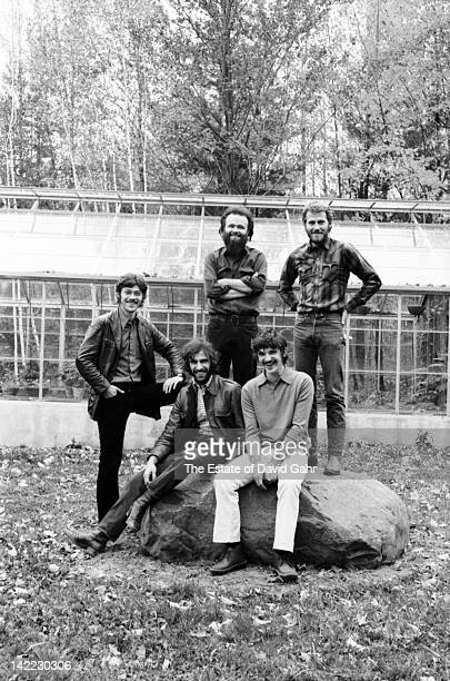 The Band pose for a portrait in October 1969 in Woodstock New York