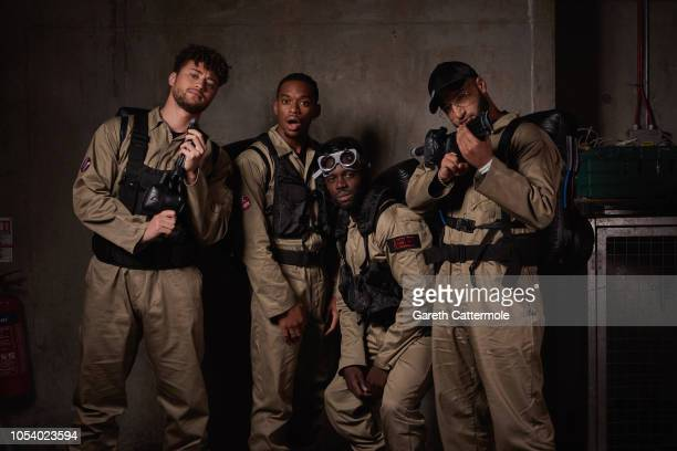 The band RakSu attend the KISS Haunted House Party 2018 at The SSE Arena Wembley on October 26 2018 in London England
