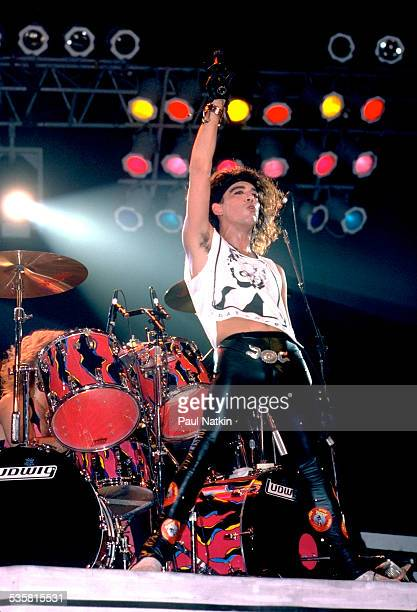 The band Ratt performs onstage Chicago Illinois September 27 1985