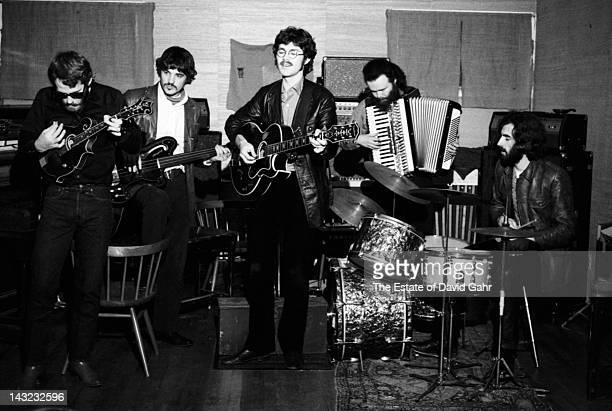 The Band rehearse in December 1969 in Woodstock New York