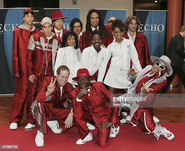 The band Seeed arrive at the Echo 2006 Music Awards on March 12, 2006 at the Estrel Convention Center in Berlin, Germany.