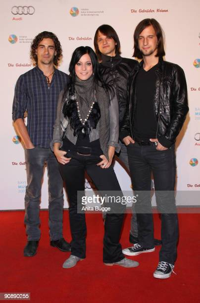 The band 'Silbermond' attend the Bavarian Music Lion Award 2009 on September 17 2009 in Berlin Germany