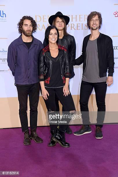 The band Silbermond attend the Deutscher Radiopreis 2016 on October 6 2016 in Hamburg Germany