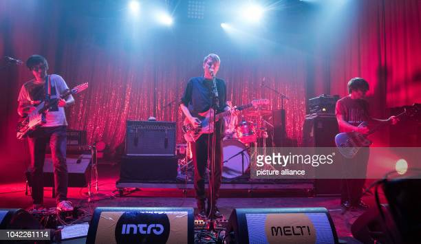 The band Tocotronic performs on stage during the Melt Music Festival 2015 in Graefenhainichen, Germany, 18 July 2015. The festival finished on 18...